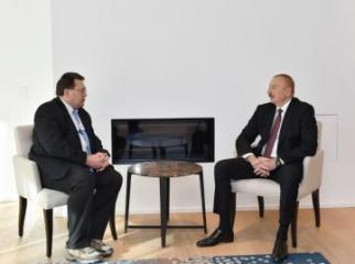 Azerbaijani President and mayor of Montrés, Switzerland meet in Davos