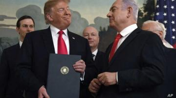 Trump shows map of Israel, Palestine as proposed under his Peace Plan - [color=red]PHOTO[/color]