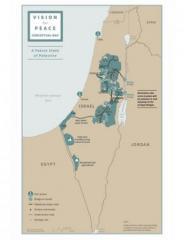 Трамп опубликовал карту с границами Палестины по «сделке века»