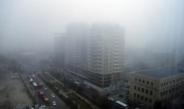 На территории страны наблюдается пыльный туман