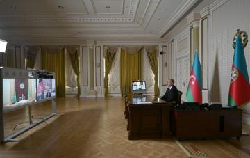 Video conference among Azerbaijani, Afghan and Turkmen Presidents held