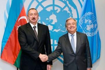 Azərbaycan Prezidenti ilə BMT Baş katibi arasında telefon danışığı olub