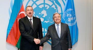 Состоялся телефонный разговор между президентом Азербайджана и генсеком ООН