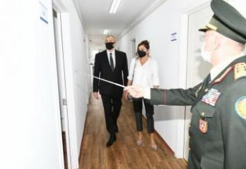 President Ilham Aliyev and first lady Mehriban Aliyeva attended the inauguration of modular hospital for treatment of coronavirus patients opened in Khatai district of Baku - [color=red]UPDATED[/color]