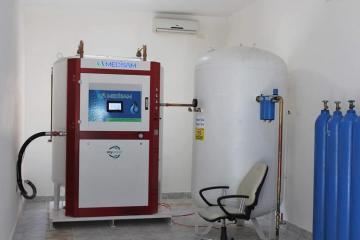 Oxygen generator significant for treatment of COVID-19 put into operation at Azerbaijan's Teaching and Therapeutic Clinics