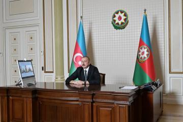Prezident İlham Əliyev Ceyhun Bayramovu Xarici İşlər naziri təyin olunması ilə əlaqədar videoformatda qəbul edib