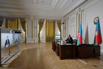 Президент Ильхам Алиев принял в формате видеоконференции Джейхуна Байрамова в связи с назначением главой МИД - [color=red]ОБНОВЛЕНО[/color]