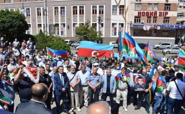 В Украине прошла акция в поддержку Азербайджанской Армии