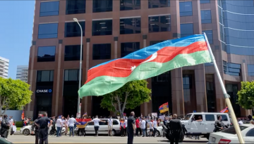 Armenians attacked Azerbaijani demonstrators in Los Angeles and injured 7 of our compatriots and policeman