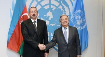 Состоялся телефонный разговор между президентом Ильхамом Алиевым и генеральным секретарем ООН