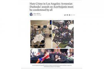 Baş konsulun Los Ancelesdəki erməni vəhşiliyinə dair məqaləsi ABŞ-da dərc olunub