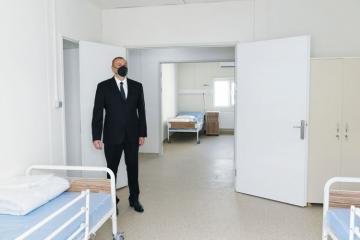 Prezident İlham Əliyev İsmayıllıda modul tipli xəstəxananın açılışında iştirak edib