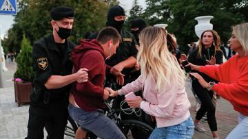 МВД Белоруссии: Протесты в Минске инициировались из-за рубежа