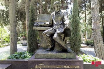 Monument erected Arif Melikov