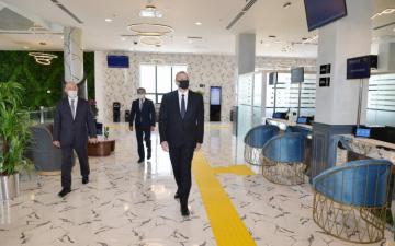 Ильхам Алиев: На самом деле наше намерение - создать для людей прекрасное, удобное и прозрачное обслуживание