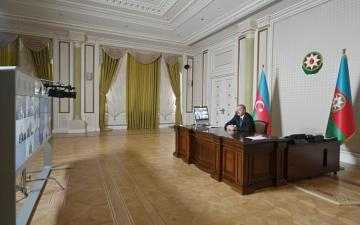 A video conference between President Ilham Aliyev and new Vice President World Bank and other representatives held