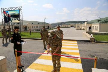 Azerbaijani Minister of Defense took part in the opening of another new military unit in the frontline zone - [color=red]VIDEO[/color]