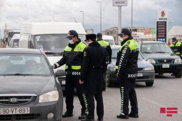 ГУГДП предупредило лиц, выезжающих из Баку, Сумгайыта и Абшерона в районы