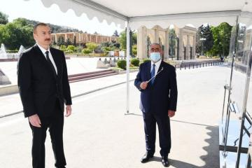 Prezident İlham Əliyev Bakıda yerüstü piyada keçidinin açılışında iştirak edib - [color=red]FOTOSESSİYA[/color]