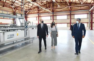 Президент принял участие в открытии завода по производству строительных материалов в Гяндже - [color=red]ОБНОВЛЕНО[/color] - [color=red]ФОТО[/color]