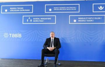 Президент Азербайджана: Некоторые люди, к сожалению, не соблюдают элементарных правил защиты