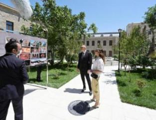 President Ilham Aliyev and first lady Mehriban Aliyeva viewed restoration and conservation works carried out in a part of Icherisheher - [color=red]PHOTO[/color]