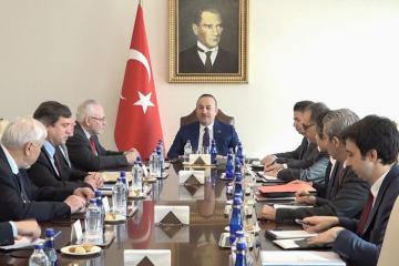 Turkish FM discusses Nagorno Garabagh issue with OSCE MG Co-chairs
