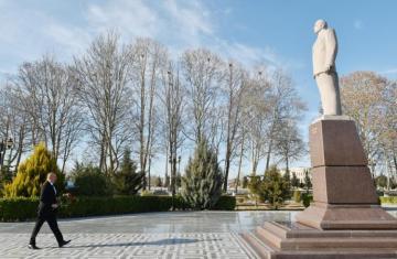 Prezident İlham Əliyev Qazax rayonuna səfər edib
