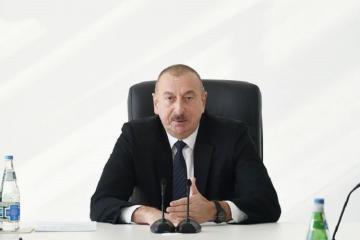 Президент: Проводится организованная работа в связи с доставкой необходимых грузов как в Азербайджан, так и в соседние страны