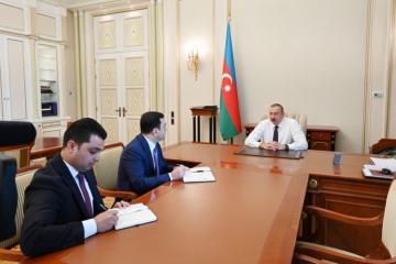 Prezident İlham Əliyev yeni təyin olunmuş icra başçılarını qəbul edib