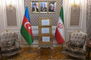 Nizami Ganjavi Center grants aid to Iran in order to confront with coronavirus