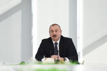 Президент: Господствующие в Азербайджане спокойствие, стабильность, развитие являются большим достоянием