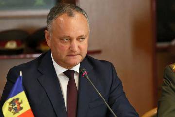 Moldova Prezidenti Rusiyaya işgüzar səfərini dayandırıb