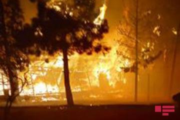 В Мингячевире сгорело здание, заселенное вынужденными переселенцами - [color=red]ФОТО[/color]