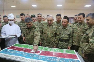 Azerbaijan's Minister of Defense Zakir Hasanov and Maharram Aliyev visit foremost military units - [color=red]VIDEO[/color]