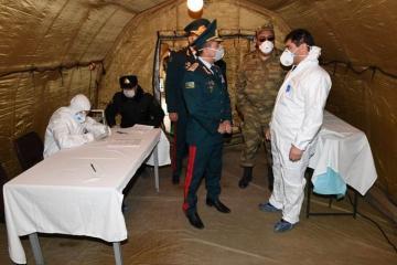 Эльчин Гулиев проверил санитарно-карантинные мероприятия на азербайджано-российской границе