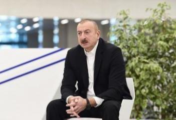 """Prezident İlham Əliyev: """"Biz elə işləməliyik, bu vəziyyətdən az itkilərlə çıxaq"""""""