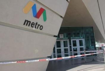 Passengers' movement at the entrances to metro stations restricted somewhat