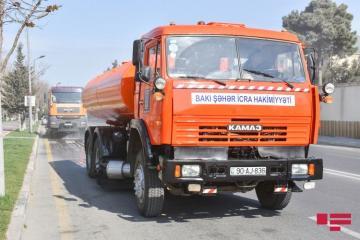 На 200 основных улицах Баку будут проведены дезинфекционные работы