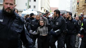 В Берлине прошла акция протеста против карантинных мер