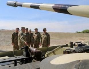 Azerbaijan's MoD: Combat capability of the weapons and military equipment of military units in frontline zone checked  - [color=red]VIDEO[/color]