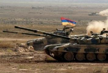 Armenian armed forces holding military exercises in occupied Azerbaijani lands