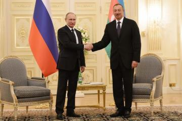 President Ilham Aliyev congratulates Putin and Russian people