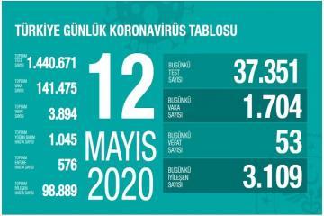 Türkiyədə koronavirusdan daha 53 nəfər ölüb