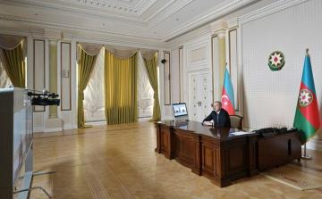 President Ilham Aliyev received Head of Kalbajar EP in a videoconference format