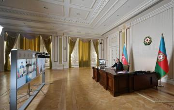 Initiated by CISCO, videoconference between President Ilham Aliyev and company's management held