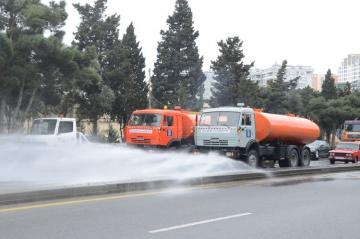 Additional enhanced disinfection works to be conducted nearly 300 main streets, avenues, and highways of Baku