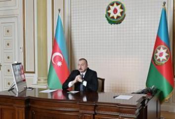 Состоялась видеоконференция между президентом Ильхамом Алиевым и руководителями компании CISCO