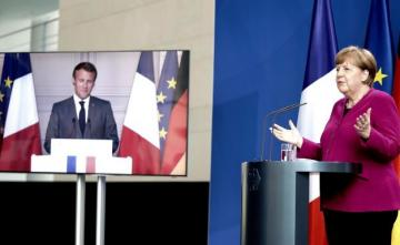 Macron, Merkel propose 500 bln euro Recovery Fund as 'major step forward'