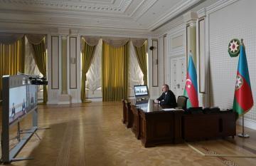 Prezident İlham Əliyev yeni təyin olunan icra başçılarını videoformatda qəbul edib